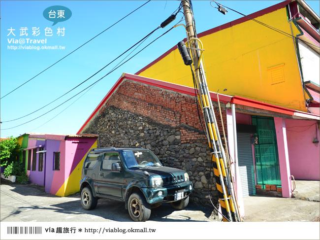 【台東新景點】台東大武彩虹街~全台最夢幻的彩色街弄!9