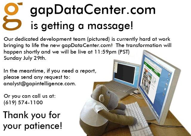 gapDataCenter Massage v2.0