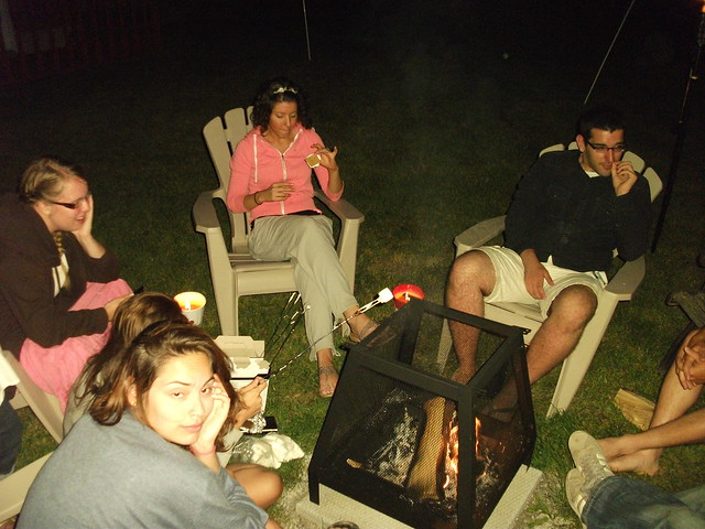 Small bonfire on Canada Day
