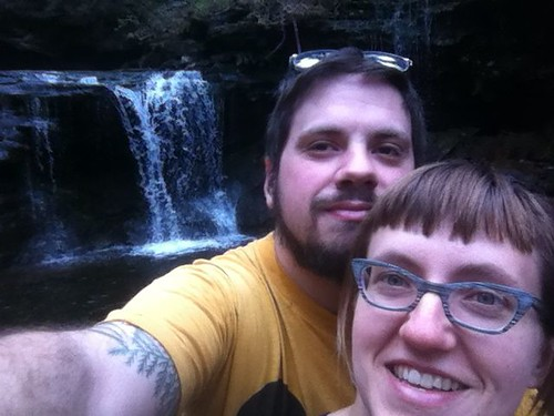 Rickett's Glen, about 3 weeks before the wedding!