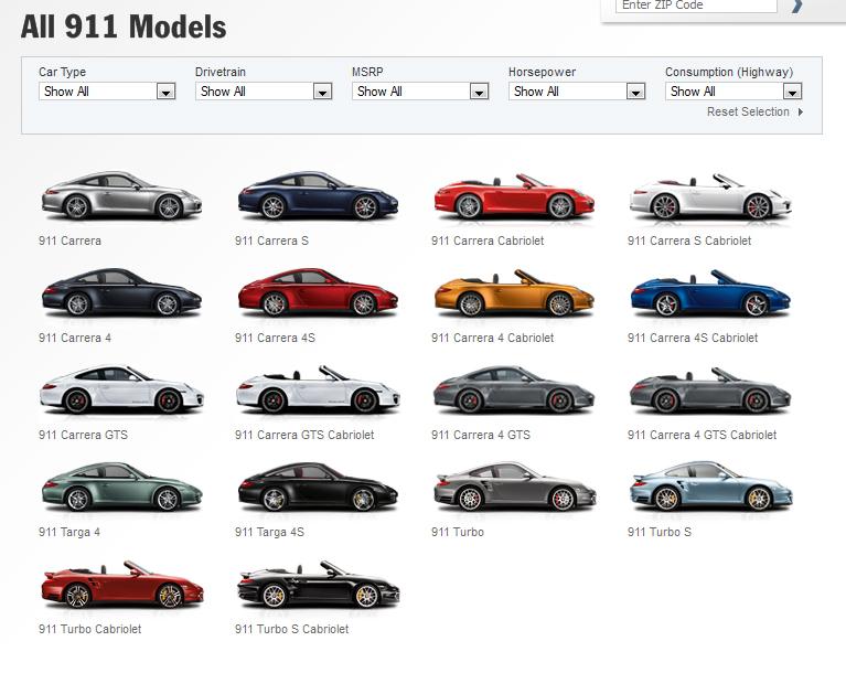 Porsche-911-Models