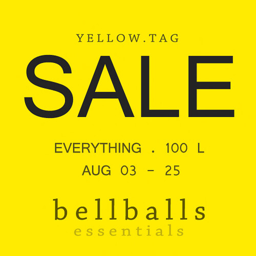 bellballs essentials EVERYTHING 100L SALE! Aug 03-25