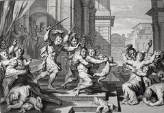 Phillip Medhurst presents Bowyer Bible Gospels print 3500 The slaughter of the innocents Matthew 2:16 Mortier