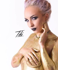 Gold.   Photographer: @tikitillman   Model: @lauren_looney_pixie