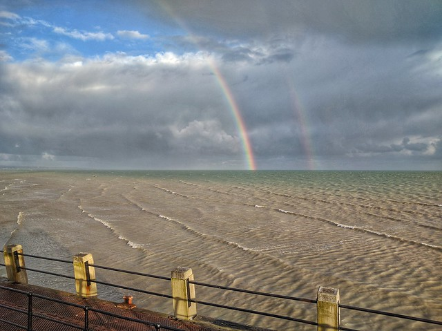 Double Rainbow off Worthing Pier