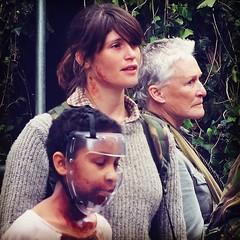 Sennia Nanua, Gemma Arterton & Glenn Close filming The Girl With All The Gifts in Birmingham last year. Great movie in cinemas now. #Birmingham #Movie #Cast #Location #Zombie #2016 #Brum