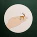 32.立鹿‧50X50CM‧紙凹版collagraphs‧版數2-10‧2010