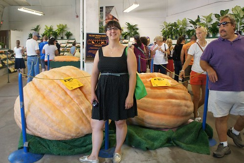 Jenna with the Giant Pumpkins by uglyagnes
