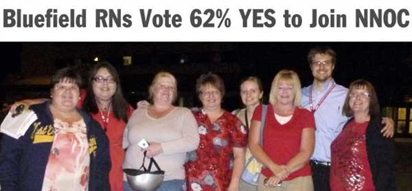 bluefield nurses say YES to NNOC