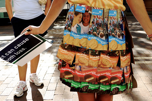 Cookie box skirt.