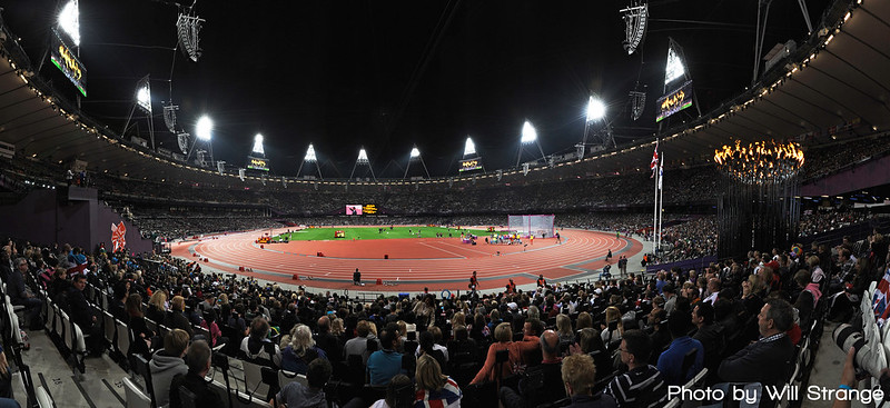 Panorama of the London 2012 Olympic Stadium