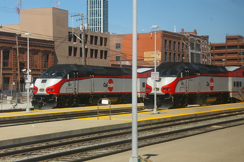 Caltrain MPI MPXpress in San Francisco Station, San Francisco, California, United States /Aug 29, 2012