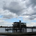 Storm clouds over Greenwich Yacht Club