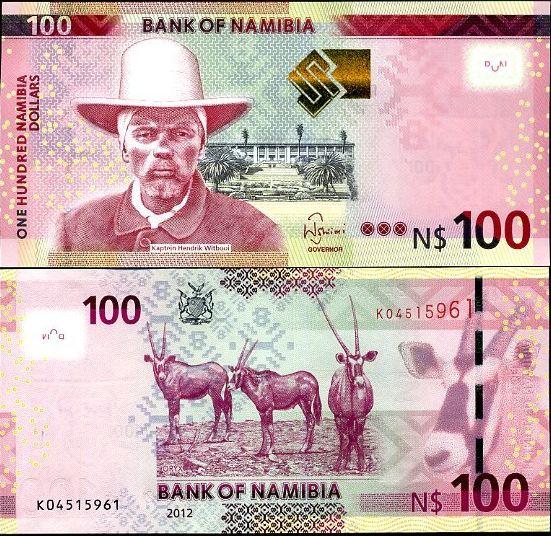 100 Dolárov Namíbia 2012
