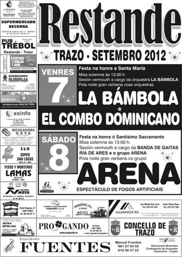 Trazo 2012 - Festas en Restande - cartel