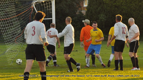 Cliffe FC 2ndXI 4 - 0 Hemingbrough Utd Vets 6Sept12