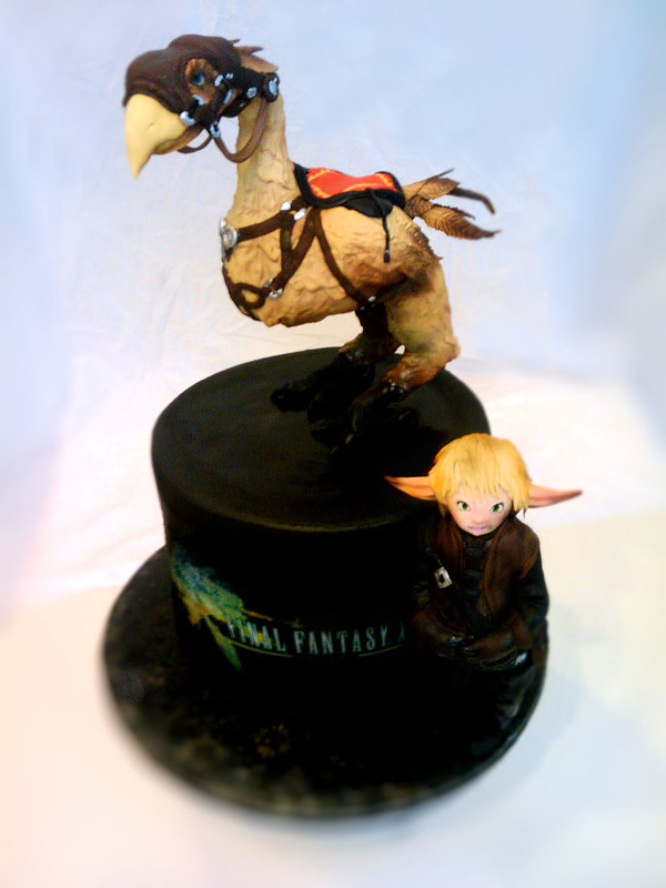 Cake featuring Falafell and Chocobo