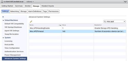 vSphere 5.1 All Paths Down (APD) enhancements