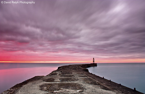 Seaham Lighthouse At Sunrise