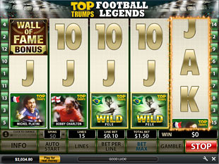 Top Trumps Football Legends Slot Machine