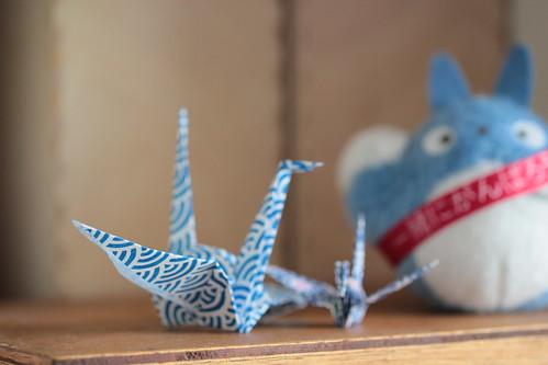 paper cranes & Totoro
