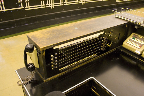 Manual telephon exchange