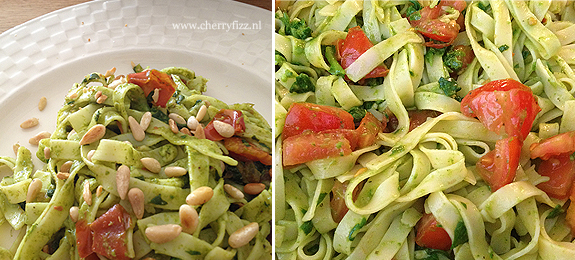 11september2012-pasta-spinaziepesto-tomaat