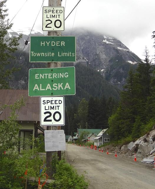 Entering Hyder Alaska