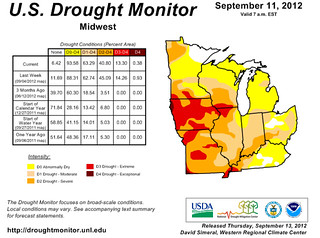 Midwest Drought Monitor (September 11)