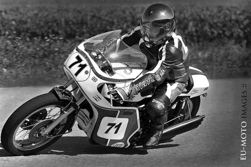 Slippery Sam Triumph classic racer motorcycle Schwanenstadt GP Austria Copyright 2012 B. Egger :: eu-moto images 1220