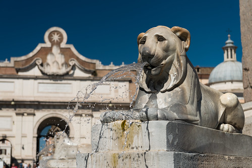 Lion on Piazza del Popolo