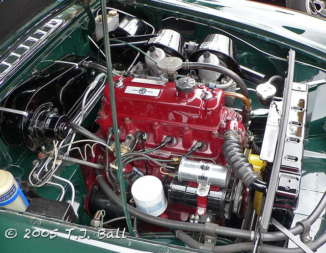 mgb engine compartment flickr photo