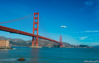 9/21/12 The Golden gate Bridge & the endeavour's Space shuttle last flight