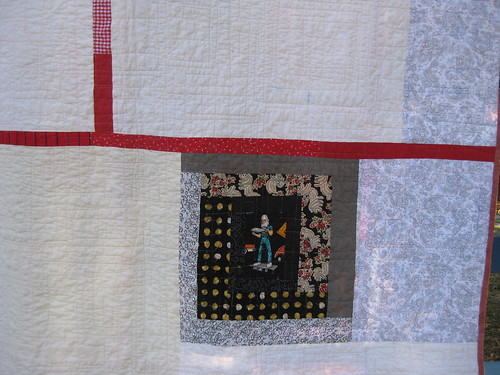 Space Man Detail on Quilt