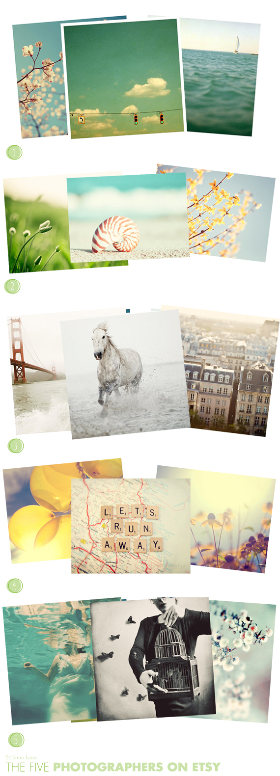 {the five} favourite photographers on Etsy