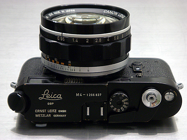 Leica M4 Black Paint, Canon 50mm F/0.95 (M Modification)