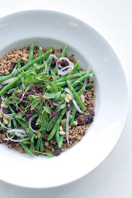 Green beans, Quinoa and Shallots