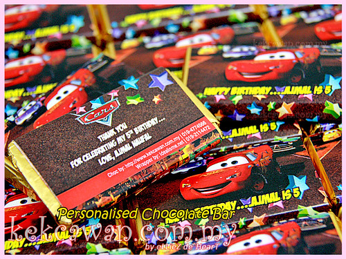 Personalised Choc Bar - Car's Theme