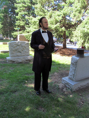 Actor Max Daniels portrays President Abraham Lincoln | by IndianPrairie