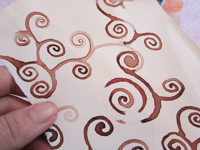 Brown swirls by Tammy
