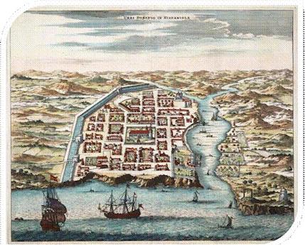 Mapa de la ciudad de Santo Domingo