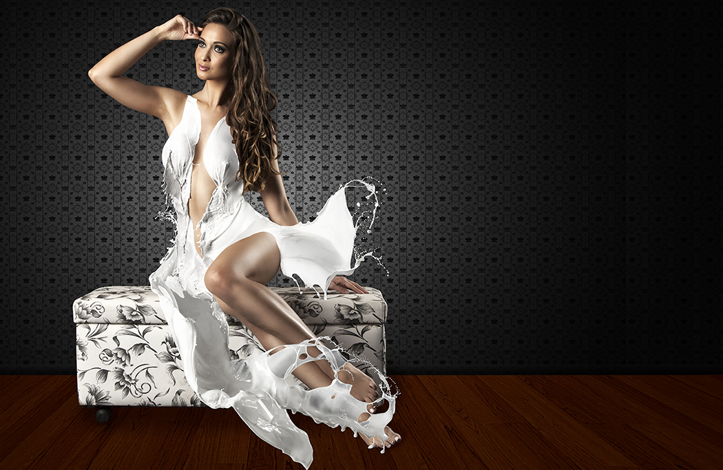 Milk Dress with Arina Martins