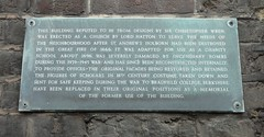 Photo of Christopher Wren slate plaque