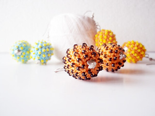 more earrings - crochet and beaded