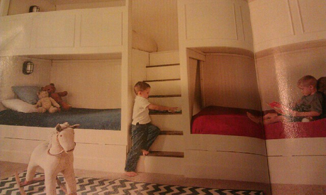 Bunk bed built in wall flickr photo sharing for Bunk beds built into wall