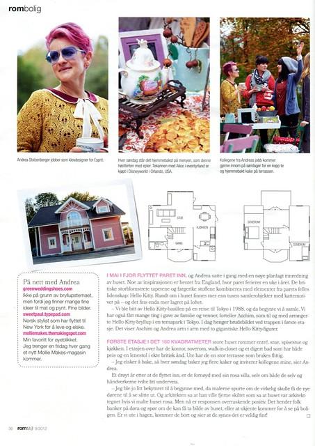 Featuring in Norwegian ROM 123 Magazine