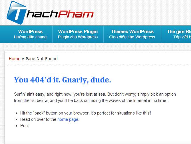 Trang 404 của Thạch Phạm Blog