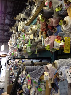Sultan's Fine Fabrics -- view of one part of the shirtings section