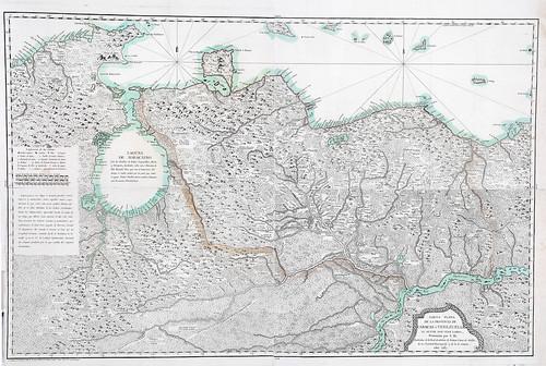 006-Carta plana de la Provincia de Caracas o Venezuela (año 1787)