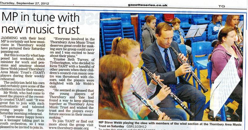 Steve Webb joins TAMT - Gazette